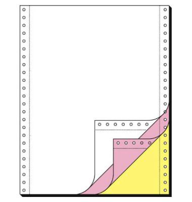 Computerpapier 3-fach 240mm x 12 Zoll blanko LP SD 70g weiß 600 Blatt