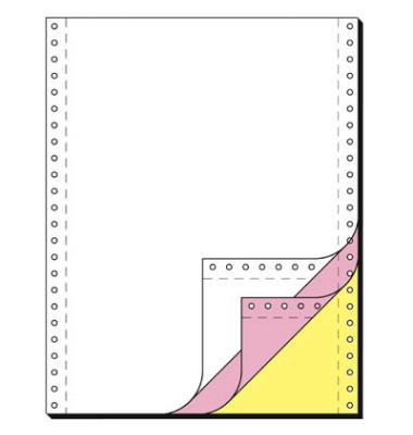 Endlospapier 33243, A4 hoch blanko, 3-fach, 12 Zoll x 240 mm, 600 Sätze