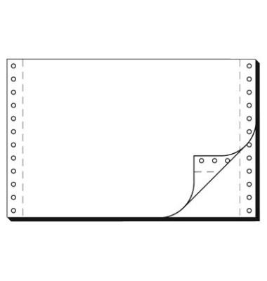 Computerpapier 2-fach 240mm x 6 Zoll selbstdurchschreibend 56/57g weiß 2000 Stück