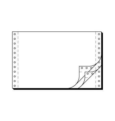 Endlospapier 36243, A5 quer blanko, 3-fach, 6 Zoll x 240 mm, 1200 Sätze