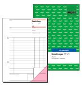 Bestellung BE525 1.und 2. Blatt bedruckt A5 hoch mit Blaupapier 2x50 Blatt