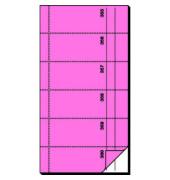Bonbuch BO098 360 Abrisse selbstdurchschreibend rosa 105x200mm 2x60 Blatt