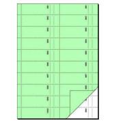 Bonbuch BO111 1000 Abrisse hellgrün A4 hoch 2x50 Blatt