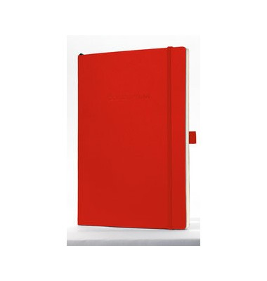Notizbuch Conceptum Softcover lin.80g rot 187X270mm 194 S