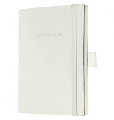 Notizbuch Conceptum Softcover blanko 80g weiß 93x140mm 194 S