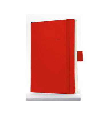 Notizbuch Conceptum Softcover blanko 80g rot 93x140mm 194 S