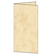 Faltkarte DIN lang 185g 25Bl Marmor beige