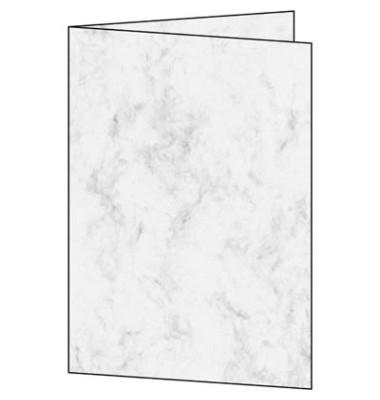 Faltkarten Marmor grau A5 (A4) 185g 25 Blatt