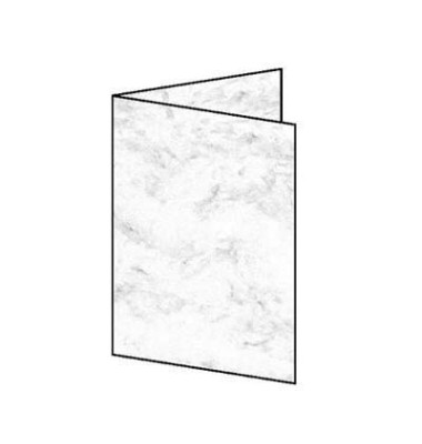 Faltkarten Edelkarton Marmor grau A6(A5) 185g 25 Stück