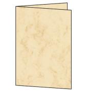 Faltkarten Marmor beige beidseitig 185g A5 auf A6 gefalzt 25 Stück
