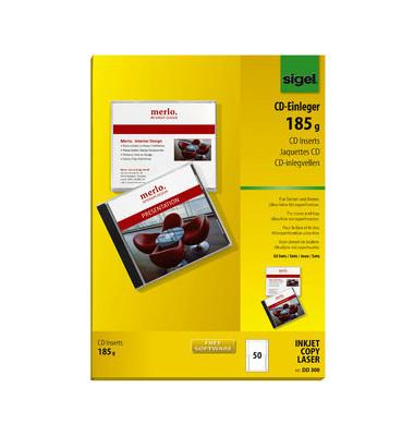 DVD CD Einleger weiß blanco hochweiß A4 170g DD300
