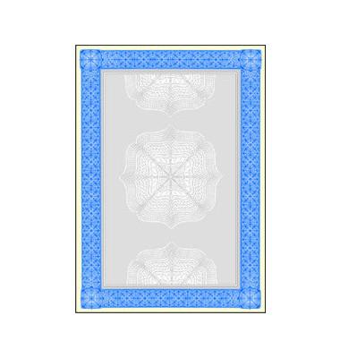 Motivpapier DP490 A4 185g Wertpapier blau 20 Blatt