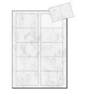 DP742 Visitenkarten grau marmor 85 x 55 mm 200g 100 Stück