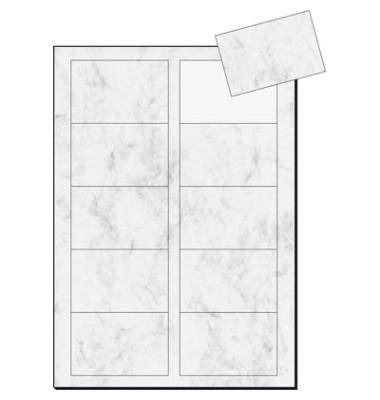 Sigel Dp742 Visitenkarten Grau Marmor 85 X 55 Mm 200g 100