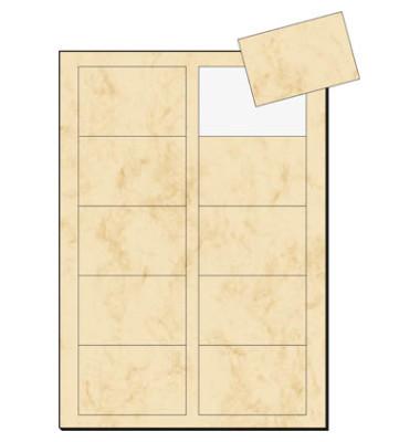 DP744 Visitenkarten beige marmor 85 x 55 mm 225g 100 Stück