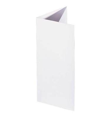 Faltkarten DIN-Lang 185g weiß 50 Blatt