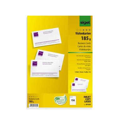 DP830 Visitenkarten weiß 85 x 55 mm 180g 150 Stück