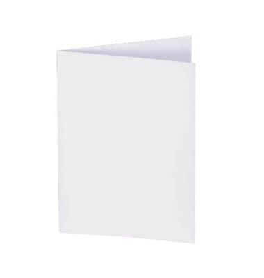 PC Faltkarten blanko 185g hochweiß A5(A4) 50 Stück