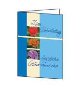 Geburtstagskarte Trio C6 mit Umschlag 10 Stück