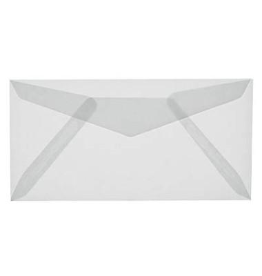 Designbriefumschläge Din Lang ohen Fenster nassklebend 100g transparent 25 Stück