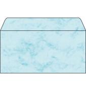 Designbriefumschläge Din Lang ohne Fenster nassklebend 90g Marmor blau 50 Stück