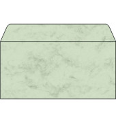 Designbriefumschläge Din Lang ohne Fenster nassklebend 90g Marmor pastellgrün 50 Stück