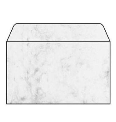 Designbriefumschläge C5 ohne Fenster nassklebend 90g Marmor grau 25 Stück