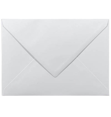 Designbriefumschläge C5 ohne Fenster nassklebend 100g weiß 50 Stück