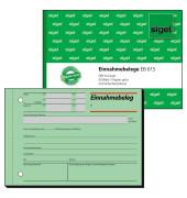 Einnahmebeleg A6 quer grün 50 Blatt