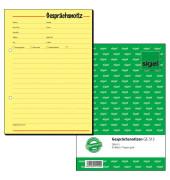 Gesprächsnotiz GE513 gelb A5 hoch 50 Blatt