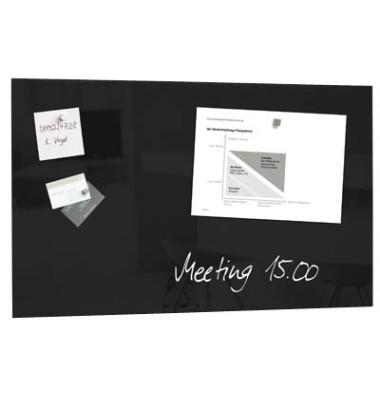 Glas-Magnetboard artverum 100x65cm schwarz GL140