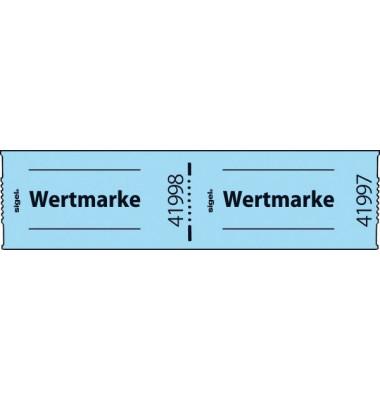 Wertmarken Rolle nummeriert blau 60x30mm 500 St