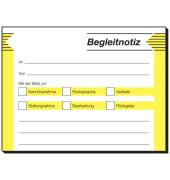 Haftformular Begleitnotiz 100x75mm 50 Blatt