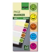 Haftstreifen Design Smile gelb 50x100mm 200 Bl