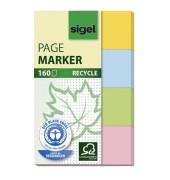 Index Haftstreifen Recycle im Pocket 4 Farben 50x80mm 4x40 Bl