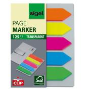 Index Haftstreifen Film Pfeil mit Clip 5-farbig 52x82mm 125 Bl