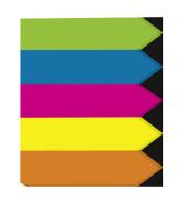 Index Haftstreifen Pfeil 5-farbig 60x45mm 200 Bl
