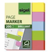 Index Haftstreifen Brill.mini 5 Farben sortiert 60x50mm 200Blatt