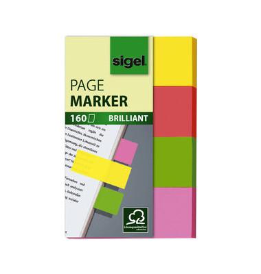 Index Haftstreifen HN630 4-fg.so 80x50mm brilla.farb. 4x40Bl.