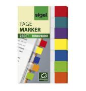Index Haftstreifen Transparent Mini 7-farbig 84x50mm 280 Bl
