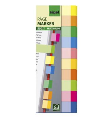 Index Haftstreifen Multicolor 10 farbig 150 x 50mm 500 Blatt