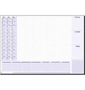 Kalenderschreibunterlage HO355 3 Jahresübersicht 3-sprachig 59,5x41cm ab 2019