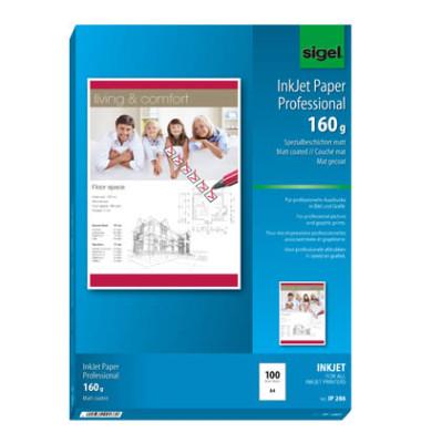 IP-286 A4 160g Inkjetpapier  hochweiß 100 Blatt