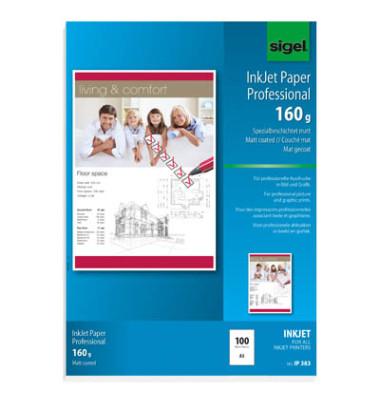 Inkjetpapier IP-383 A3 160g hochweiß 100 Blatt
