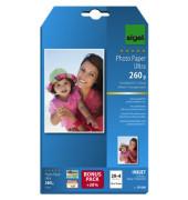 Inkjet-Fotopapier 10x15cm IP-606 Ultra einseitig hochglänzend 260g 24 Blatt