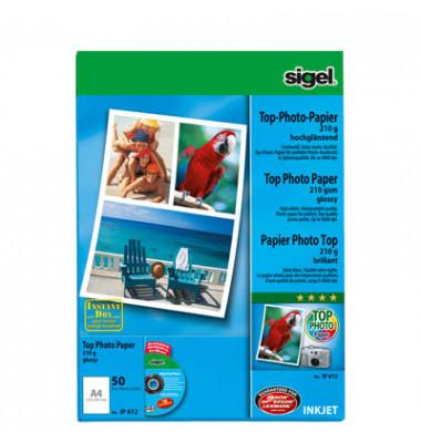 Inkjet-Fotopapier A4 IP-612 Top einseitig hochglänzend 210g 50 Blatt