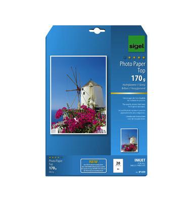 Inkjet-Fotopapier A4 IP-659 Top einseitig hochglänzend 170g 20 Blatt