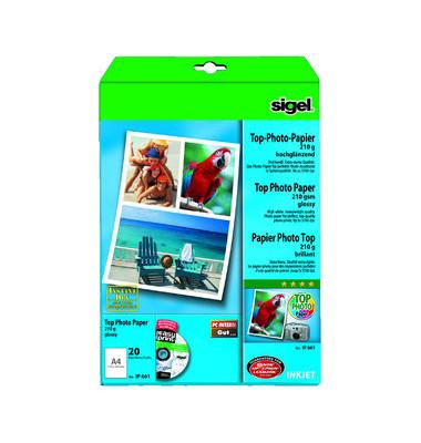 Inkjet-Fotopapier A4 IP-661 Top hochglänzend 210g 20 Blatt