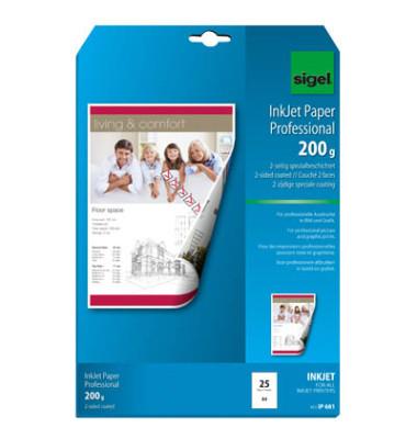 Inkjet-Fotopapier A4 IP-681 Professional beidseitig matt 200g 25 Blatt