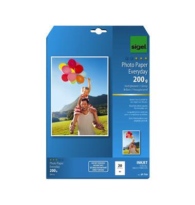 Inkjet-Fotopapier A4 IP-710 Everyday Plus hochglänzend 200g 20 Blatt